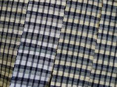 Sri | A Black and White Sakiori Obi: Fine Rag Weaving
