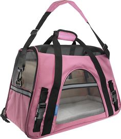 The airline-approved OxGord Pet Carrier creates a safe and secure environment for your pet when you travel. It's compliant with most airlines' size restrictions for carry-on bags for an easier check-in experience at the airport. Not only is it practical for traveling convenience, but it's also made for your pet's comfort with a removable soft fleece bed that's machine washable. The mesh panels provide ventilation and allow fresh air to flow through. This soft-sided travel carrier has…