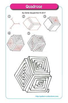 Resultado de imagen de patrones zentangle paso a paso
