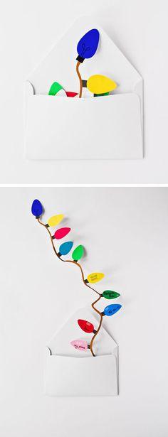Free printable - festive garland light strand invitation and card >> A Subtle Revelry