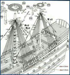 Model Sailing Ships, Old Sailing Ships, Model Ships, Model Ship Building, Boat Building, Ship Mast, Black Pearl Ship, Make A Boat, Hms Victory