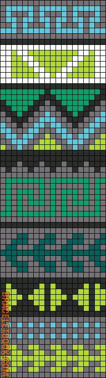 muestra de colorido para prenda a ganchillo