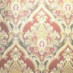 Royal Crest – Rust – Discount Designer Fabric – fabrichousenashville.com