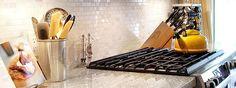 White Marble Mosaic Backsplash Tile Idea