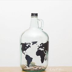 DIY Travel Jar... I can save pennies to travel like my PaPa did!