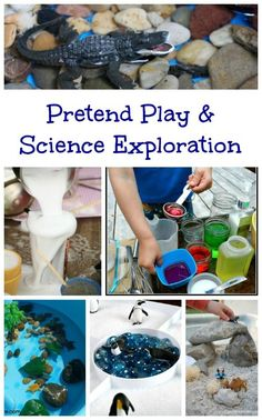Fun activities that show how pretend play & science overlap and what kids will learn!