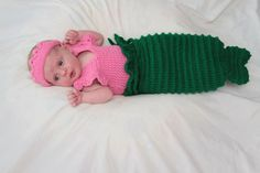 Baby Little Mermaid by ChainedWithLuv on Etsy