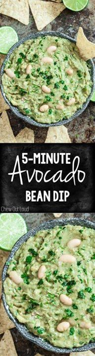 Just 5 minutes to th Just 5 minutes to this hearty healthy...  Just 5 minutes to th Just 5 minutes to this hearty healthy superbly delicious Avocado Bean Dip. Great for parties or guilt-free snack attack! Recipe : http://ift.tt/1hGiZgA And @ItsNutella  http://ift.tt/2v8iUYW