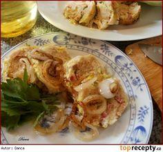Kapustové knedlíky vařené v mikrovlnné troubě Dumplings, Shrimp, French Toast, Tacos, Pizza, Eggs, Bread, Chicken, Breakfast