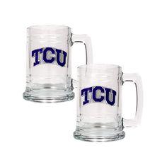 TCU Horned Frogs 2-pc. Glass Tankard Set, Multicolor, Durable