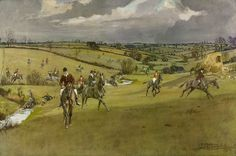 Lionel Edwards Hunting Countries the Pytchley Hunt