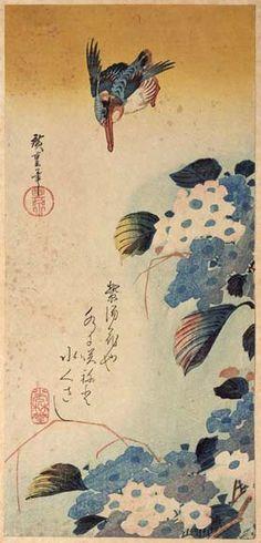http://www.hiroshige.org.uk/hiroshige/nature_prints/nature_o-tanzaku/images/kingfisher_hydrangea.jpg