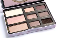 This is beautiful, more gray toned than most neutral palettes but still with pinks. Too Faced Boudoir Eyes Soft & Sexy Eyeshadow Collection