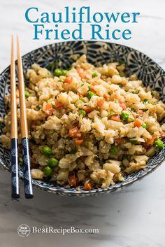 Cauliflower Fried Rice - Healthy and Amazing!