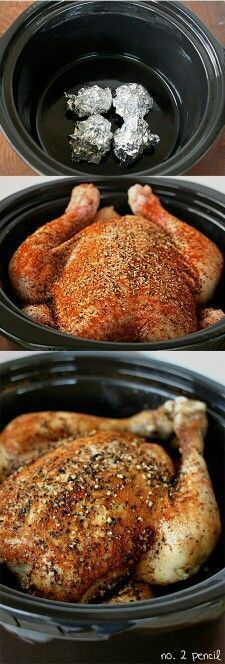 How to cook a Whole Roast Chicken in your Crockpot