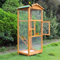 Wooden Large Bird Cage 65″ Pet Play Covered House Ladder Feeder Stand Outdoor | Productos para mascotas, Aves, Jaulas | eBay!