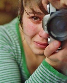 Syrian journalist. When l found this photograph l felt for her, l thought this is part of the job l could never do.