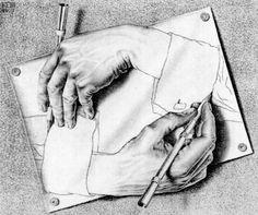 M.C. Escher art. I love M.C. Escher he made the best kind of art!!!