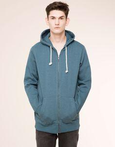 Pull&Bear - man - sweatshirts - zipped hooded sweatshirt - emerald - 05591510-V2016