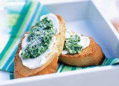 It doesn't get any fresher than Basil, Baguettes and Philadelphia Cream Cheese. The green isn't just for the gridiron anymore, try this Pesto Crostini for a refreshing take on Game Day snacks.
