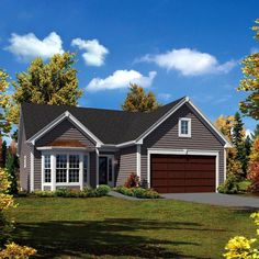 Cabin Cottage Country Ranch Traditional House Plan 95906 Elevation I could see me living in this.