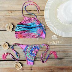 Biquíni Mandala Rosa - Caribe Brasil | Beachwear
