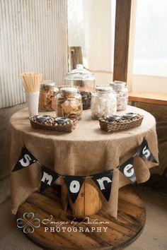 Smore bar, Country wedding Starlight Meadow NC www.imagesbyautumn.com