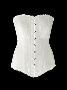 Authentic cotton corset: vintage cotton overbust by Corsettery