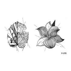 bd04ff5c6c2b0 WYUEN 5 Sheets Black Flower Tattoo Sticker Women Fake Temporary Leaf Tattoo  Body Art -- Learn more by visiting the image link. (This is an affiliate  link)