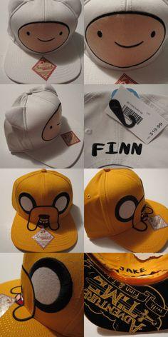 d8a4bf6ec30 Adventure Time Hat Cap SET  2 HATS!!! Jake and Finn Snapback Costume  Trucker Hat