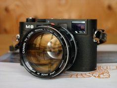 Leica With Canon Lens Canon Camera Models, Leica Camera, Camera Gear, Slr Camera, Canon Cameras, Leica Appareil Photo, Appareil Photo Reflex, Antique Cameras, Home