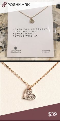 Loved You Yesterday Love You Still Heart Necklace Loved you yesterday, love you still. Always have, always will. This is the perfect necklace for a friend, family member or romantic interest to serve as a reminder that they are loved ❤️. Measures 16 inches- bundle with other items for discount! Jewelry Necklaces