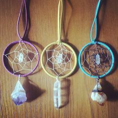 Handmade raw crystal pastel dream catchers https://www.etsy.com/shop/marleecwatts