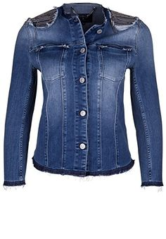 jeansjacke mit l chern damen zerrissen lange rmel slim fit kurz denim jacke jeansjacke. Black Bedroom Furniture Sets. Home Design Ideas
