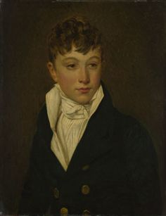 """Portrait of a Boy"", French, by unknown artist (once attributed to Jacques-Louis David, but may be by his assistant Georges Rouget, or by a follower of Baron Gros), c. 1805-10."