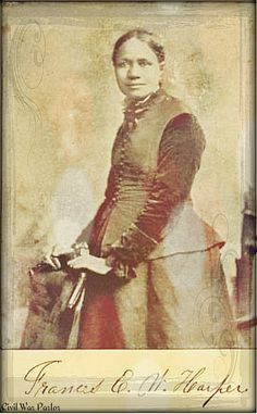 Frances Ellen Watkins Harper~An Unsung Heroine She helped slaves escape through the Underground Railroad and wrote frequently for anti-slavery newspapers, earning her a reputation as the mother of.