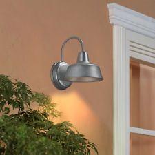 Accesorio de Luz al Aire Libre Galvanizado de Montaje en Pared Lámpara de Iluminación Exterior 10.75-in hacia abajo