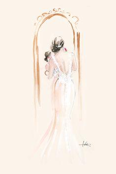 *Swoon* Custom fashion illustration by Katie Rodgers of Paper Fashion. #illustration #fashionillustration #inspiration