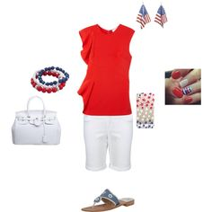 4th of July OOTD by oliviacat1215 on Polyvore featuring polyvore fashion style 3.1 Phillip Lim Superdry Jack Rogers Croft & Barrow Casetify