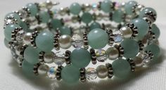 Amazonite Memory Wire Bracelet by CinsWhims on Etsy, $25.00