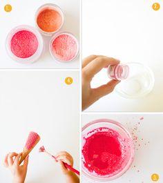 the shop sweet lulu blog: Luster Dust Painted Cones