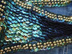 Beading Tutorial - pretty peacock sequins