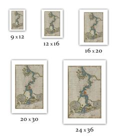 "Piri Reis (Muhyiddin Piri Bey) : ""Map of the River Nile From Its Estuary South"" (Book of Navigation) - Giclee Fine Art Print Piri Reis Map, Large Prints, Fine Art Prints, Old Greek, 12 Image, Fine Art Paper, Art Museum, Vivid Colors, Original Artwork"