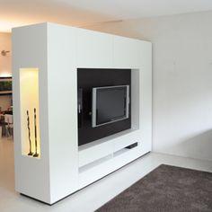 Roomdivider « Klaas Design Bedroom Divider, Room Divider Walls, Living Room Remodel, New Living Room, Library Furniture, Furniture Design, Home Bedroom, Modern Bedroom, Attic Inspiration