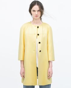 Image 2 of BELL SLEEVE COAT from Zara
