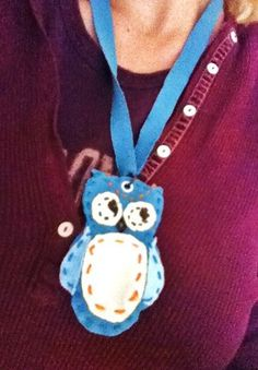 Fabric Owl Pendant : like this idea but can be done so much better
