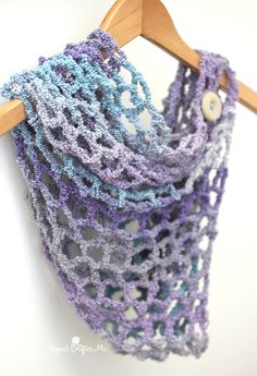Crochet this gorgeous cowl with just one skein of Lion Brand Textures (pictured in arctic sky)! Makes an excellent gift!