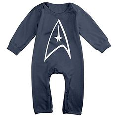 YTRY Star Trek Badge Logo Babys Long Sleeve Romper Onesie Navy Size 18 Months * You can get more details by clicking on the image.