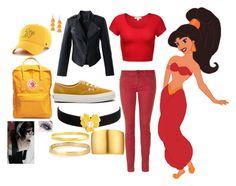 """Jasmine"" by saleonsea ❤ liked on Polyvore featuring Disney, Chicwish, Burberry, Vans, Fjällräven, Shashi, Stella & Dot, Gurhan, Kenneth Jay Lane and '47 Brand"