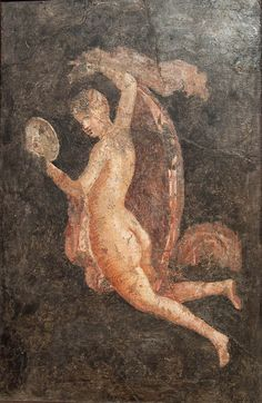 Woman looking in the mirror. Pompeii (?), 45-79 A.D.